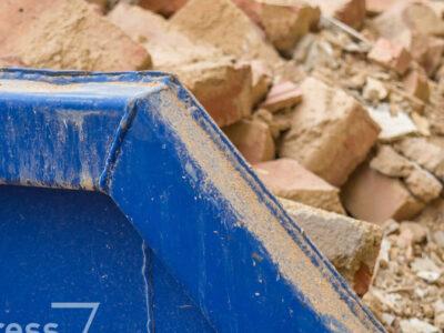 kontener na czysty gruz